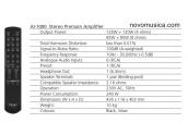 Amplificador Teac AI-2000 Distinction 125 watios estereo hifi