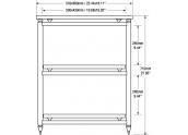 Solidsteel 5.3 mueble de audio tres estantes y altura de 71 cms
