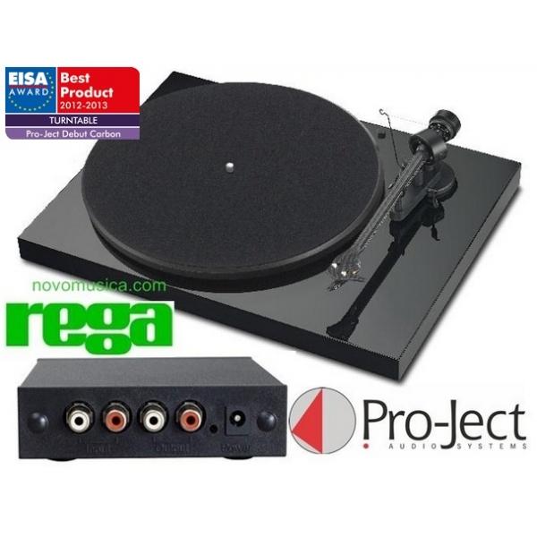 Conjunto Giradiscos Project Debut Carbon + Rega Fono Mini A2D
